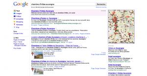 Résultat Google Adresses