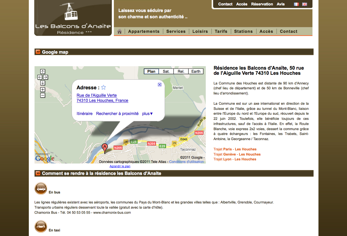 Google adresses optimiser votre fiche google adresses for Site web pour hotel
