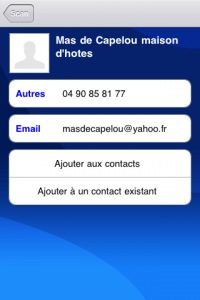 Récuperer le contact sur son iphone