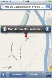 Photo Google Map sur Iphone