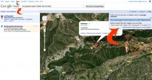récupérer le code html google map