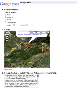 Personnaliser son code google map