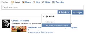 Choisir Public Facebook