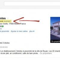 Hôteliers, surveillez votre fiche Google adresses, elle a peut être été spammée !
