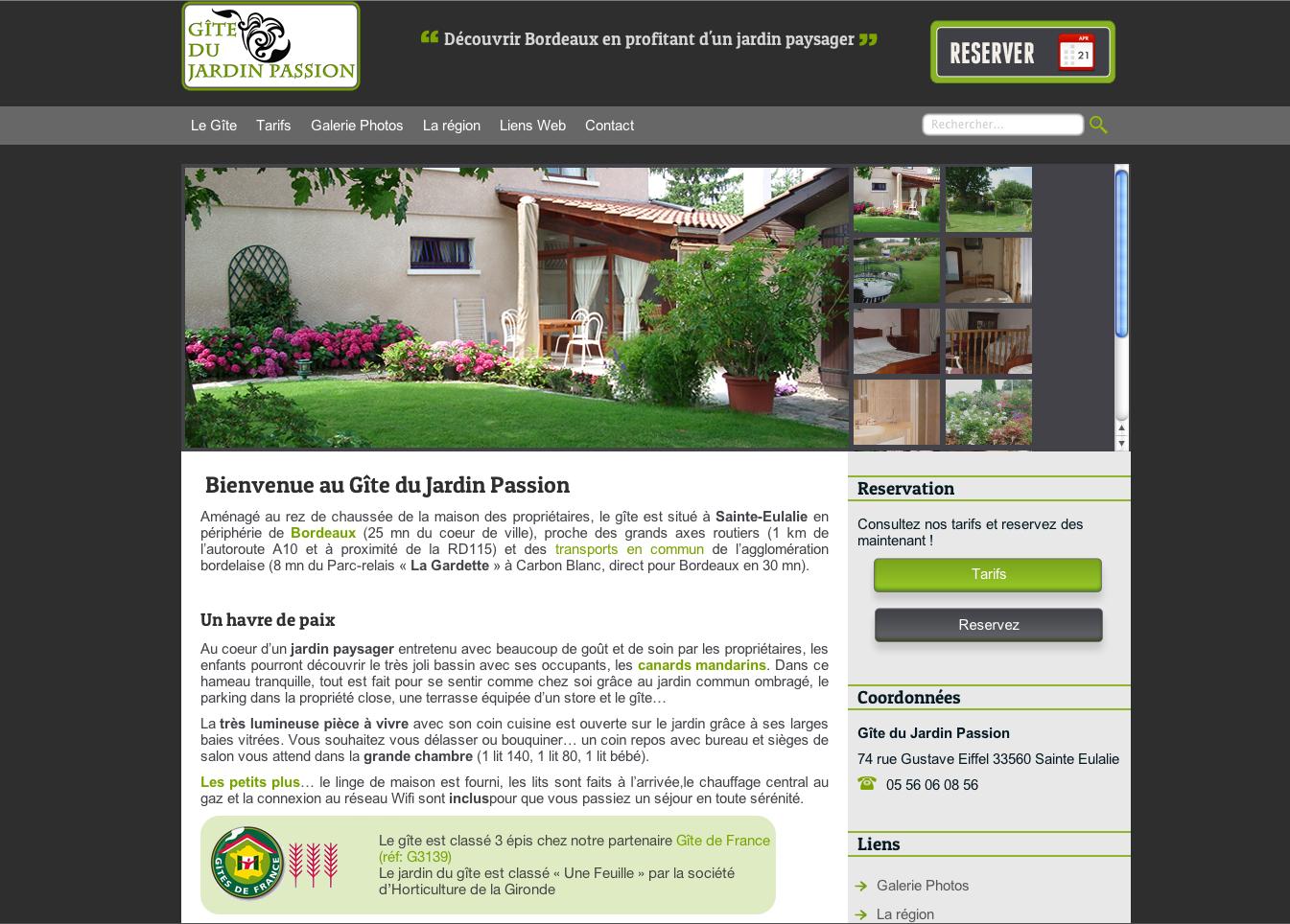 Gite jardin passion